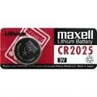 Элемент питания CR2025-BC5 LITHIUM таблетка (автобрелки) 3V MAXELL /5/100
