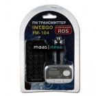 MP3-FM модулятор (трансмиттер) FM-104 USB/MicroSD/MP3 с пультом ДУ 12V INTEGO /1/50