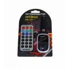 MP3-FM модулятор (трансмиттер) FM-101 USB/MicroSD/MP3 с пультом ДУ 12V INTEGO /1/50